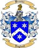 Broster Family Crest from England