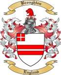 Broughton Family Crest from England