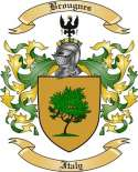 Brougnes Family Crest from Italy