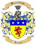 Brouillette Family Crest from France