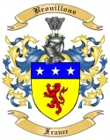 Brouillous Family Crest from France