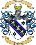 Broun Family Crest from England2