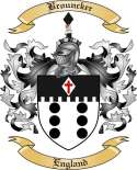 Brouncker Family Crest from England
