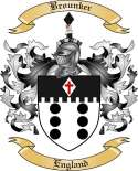 Brounker Family Crest from England