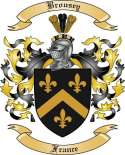 Brousey Family Crest from France
