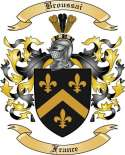 Broussai Family Crest from France