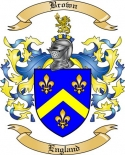 Brown Family Coat of Arms from England