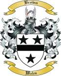 Brown Family Coat of Arms from Wales