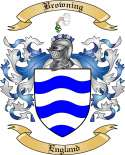 Browning Family Crest from England