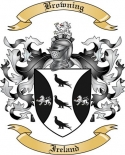 Browning Family Crest from Ireland