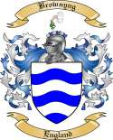 Brownyng Family Crest from England