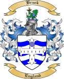 Bruck Family Crest from England
