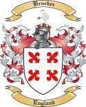 Brucker Family Crest from England