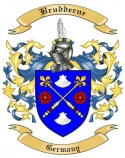 Brudderne Family Crest from Germany