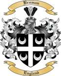 Bruman Family Crest from England