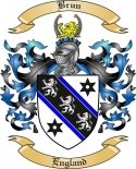 Brun Family Crest from England2