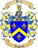 Brun Family Crest from England