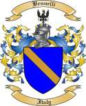 Brunelli Family Crest from Italy