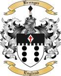 Brunger Family Crest from England