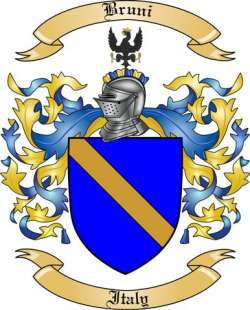 Bruni Family Crest from Italy by The Tree Maker