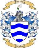 Bruning Family Crest from England