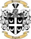 Brunnen Family Crest from England
