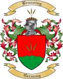 Brunning Family Crest from Germany