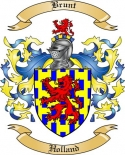 Brunt Family Crest from Holland