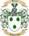 Brunt Family Crest from Netherlands2