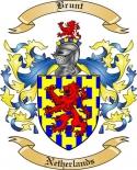 Brunt Family Crest from Netherlands