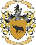 Brusa Family Crest from Italy