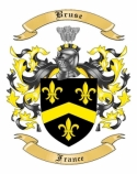 Bruse Family Crest from France