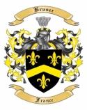 Bruser Family Crest from France