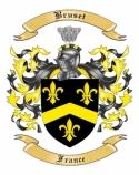 Bruset Family Crest from France
