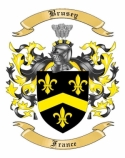 Brusey Family Crest from France