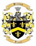 Brusset Family Crest from France