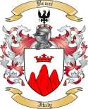 Bruzi Family Crest from Italy