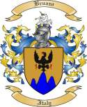 Bruzzo Family Crest from Italy