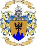 Bruzzone Family Crest from Italy