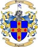 Bryane Family Crest from England