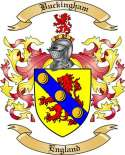 Buckingham Family Crest from England
