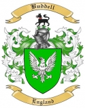 Buddell Family Crest from Enlgand