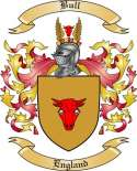 Bull Family Crest from England