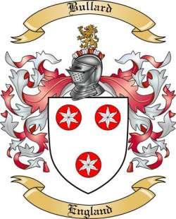 Bullard Family Crest from England