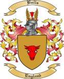 Bulls Family Crest from England