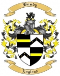 Bundy Family Crest from England