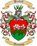 Bunkell Family Crest from Germany