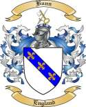 Bunn Family Crest from England