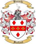 Bunsche Family Crest from Scotland