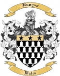 Bunyan Family Crest from Wales